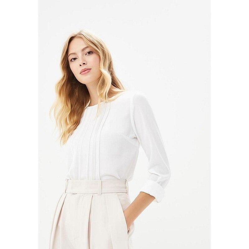 Blouses & Shirts MODIS M182W00382 blouse shirt clothes apparel for female for woman TmallFS women s fashion flowers long sleeve chiffon shirt blouse multicolored m