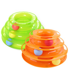 Three Levels Cat Pet Toy Cats Toy Interactive Cat Intelligence Toy Cat Crazy Ball Disk Interactive Toy For IQ Traning все цены