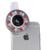 Led luz de relleno de teléfono selfie clips de lentes para samsung galaxy s3 s4 s5 s6 s7 borde nota 2 3 4 5 j3 7 a7 a8 gran angular macro lente