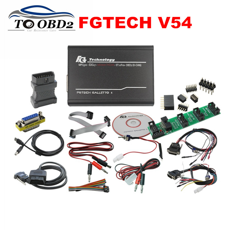 Professional OBDII EOBD FGTCH V54 Galletto 4 Master BDM Tricore OBD Function ECU Programmer FG Tech