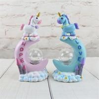 Ins Unicorn Lamp LED Moon Night Light Luminaria Baby Night Lamp Unicorn Toys Dolls For Baby girl Gift Romantic bedside lamp