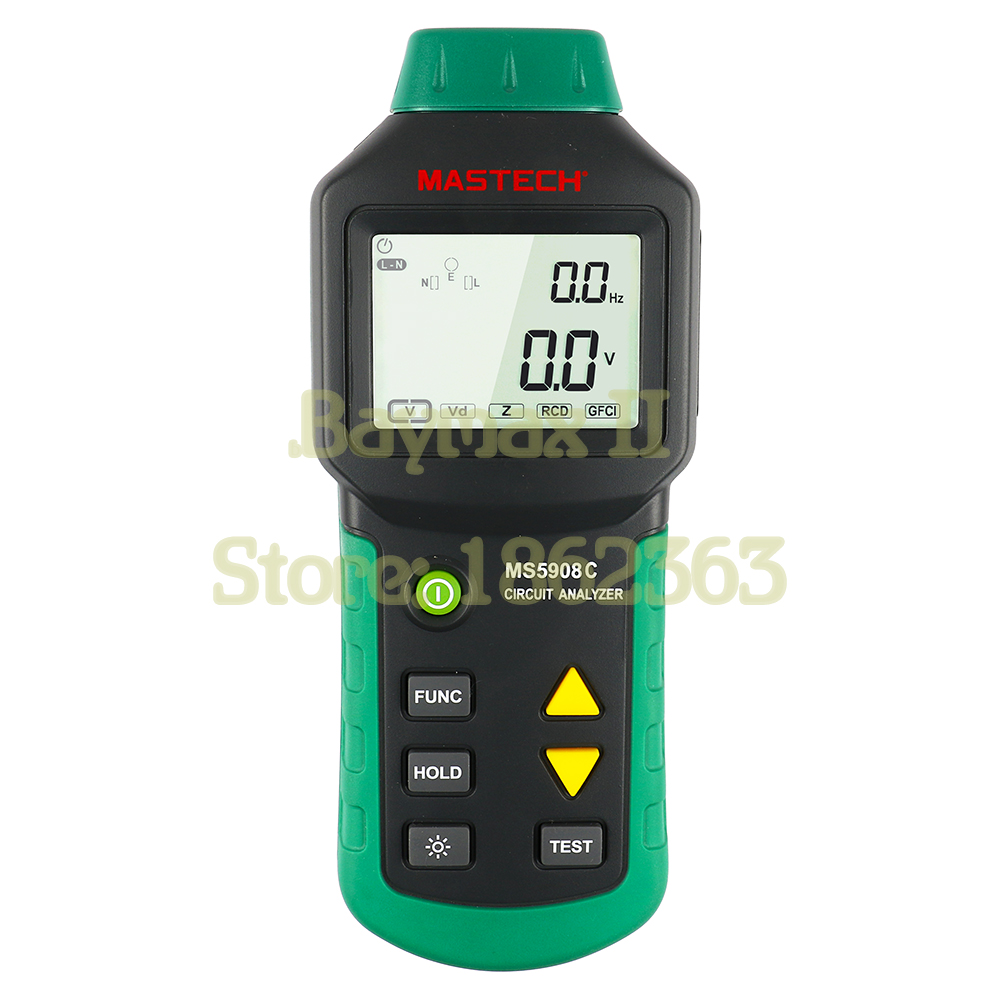 Mastech MS5908 Ture RMS Circuit Analyzer Tester Compared with Ideal Industries Suretest 61-164CN mastech ms5908 serial rms circuit analyzer tester compared w ideal sure test socket tester ms5908c eu plug