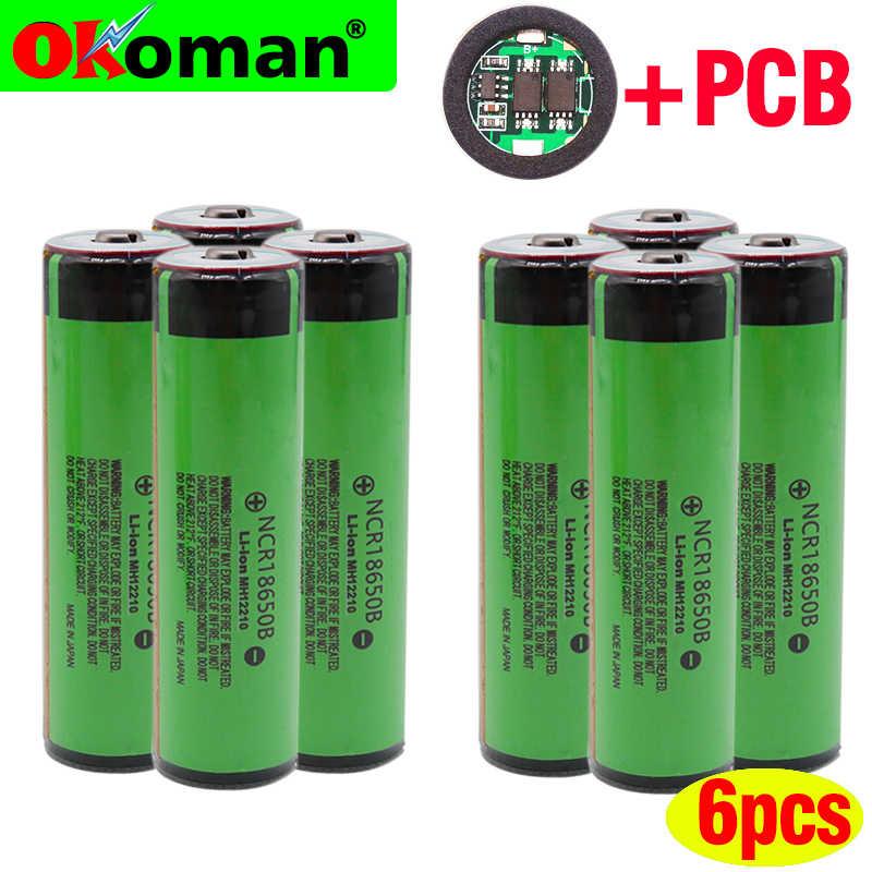 100% NCR18650B 3.7 V 18650 بطارية 3400 mAh بطارية قابلة للشحن بطاريات ليثيوم أيون لباناسونيك مضيا مع حماية (PCB)