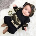 2017 Toddler Baby Boy Girl Clothing sets Hoodies Sweatshirt Camouflage Clothing + Pants  2pcs Outfits Set Baby Boys Clothes set