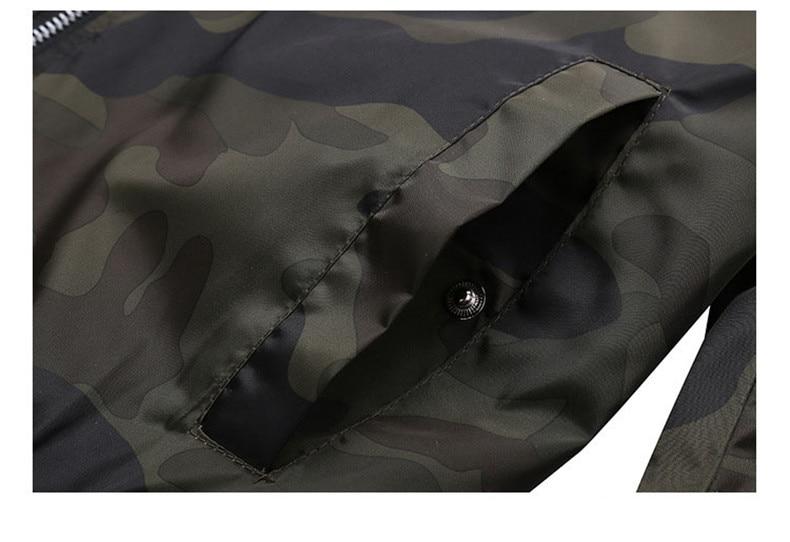 7XL Jackets Men 2019 Camouflage Jacket Male Coats Camo Bomber Mens Jacket Brand Cloth Outwear Baseball Collar Plus Size 5XL 6XL 14