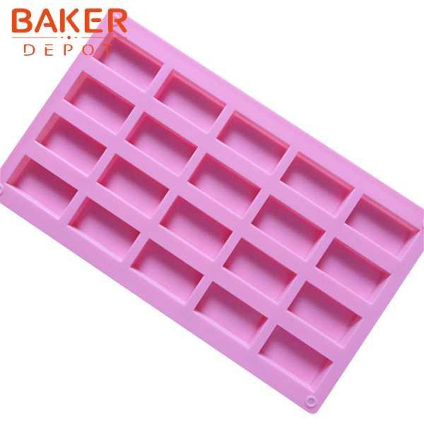 Quotidiano dessert FAI DA TE stampi in silicone vassoio di ghiaccio stampi 20 reticoli biscotti al cioccolato stampo sapone fatto a mano stampi SSM-001-2