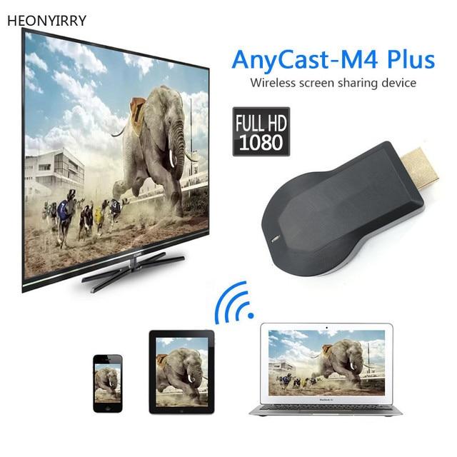 AnyCast M2 בתוספת Airplay 1080 P אלחוטי WiFi תצוגת טלוויזיה Dongle מקלט טלוויזיה מקל אנדרואיד Miracast עבור טלפון מחשב PK chromecast