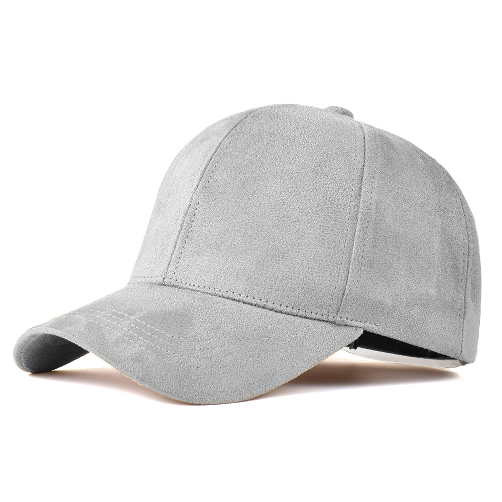 4c25f758115 Fashion Brand snapback Baseball Cap Women Gorra cap Street Hip Hop Caps  Suede Hats for Ladies Black Grey Baseball cap -in Baseball Caps from  Apparel ...
