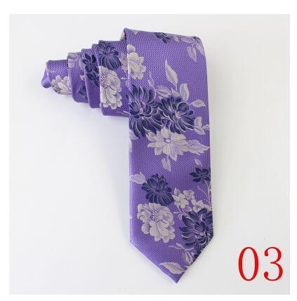 Жаккардовые шелковые галстуки 100% шелк тутового Вышитые полосы галстуки Стрелка тип рулевой 7.5 СМ