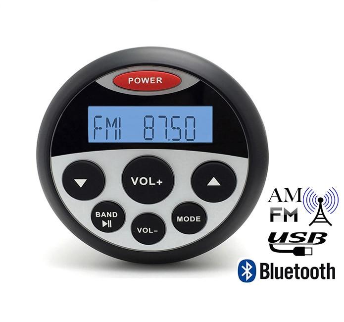 3.5inch Gauges Marine Radio Bluetooth Stereo Motorcycle Boat Sound System MP3 Music Audio Player ATV UTV Golf Cart - E-MAX Electronics store