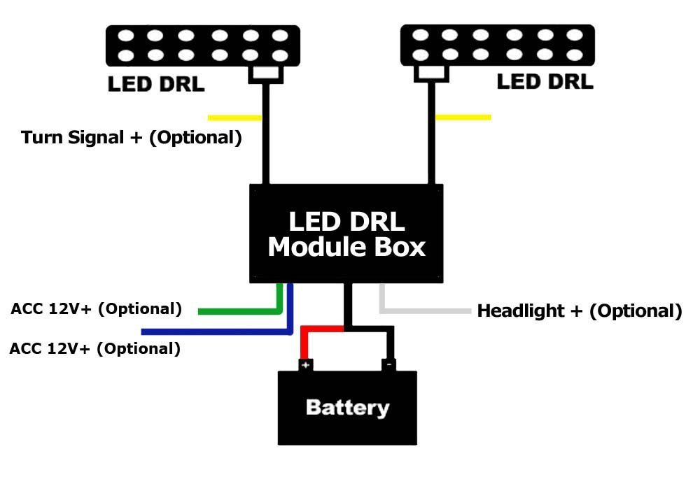 Daytime running lights automatic daytime running lights wiring kit drl wiring diagram drl wiring diagram for 2008 denali wiring diagrams rh parsplus co cheapraybanclubmaster Gallery