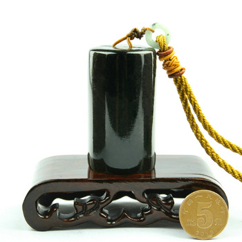 Top grade Blackish green Cylindrical Chinese Stamp Seal for Painting Calligraphy collector