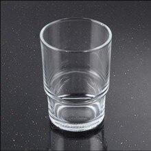Высокое качество прозрачное стекло мыльница аксессуары для ванной комнаты матовая зубная щетка держатель чашки для зубной щетки держатель туалетной щетки