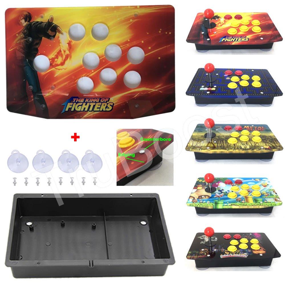 DIY Arcade Joystick Kits Acrylic Multiple Artwork Panel Flat Case Including Suckers Screws Arcade Joystick Replacement Part illustration
