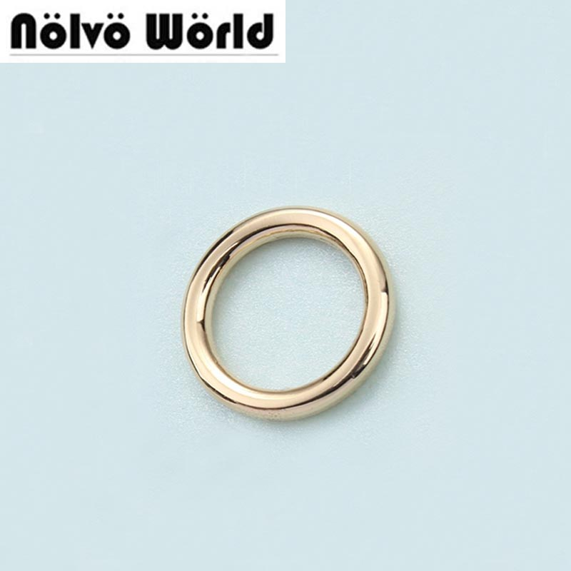 100pcs 5 Colors 3mm Thick,inside 1/2 Inch 13mm O Rings,DIY Accessory Alloy Metal Round Edge Welded O Rings