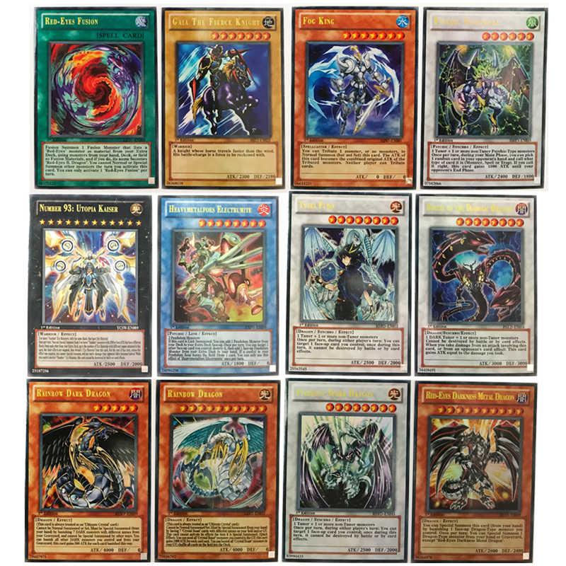 60 шт./компл. английский карты югио с металлический корпус коллекция карта Yu-Gi-Oh карточная игра бумажные игрушки для взрослых детей подарок