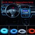 Car styling produtos el 3 m Fio EL Neon Frio Luz Para mazda 6 3 cx-5 cx7 rx8 Carro atenza adesivos