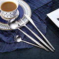 KuBac Hommi 24 шт. роскошный серебристый цвет, набор столовых приборов столовые приборы для ужина Вилка Нож Прямая доставка