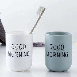Image 1 - פשוט נורדי פלסטיק מחזיק מברשת שיניים נסיעות נייד כביסה כוס בוקר טובה שן מברשת אחסון ארגונית כוס אמבטיה סטים