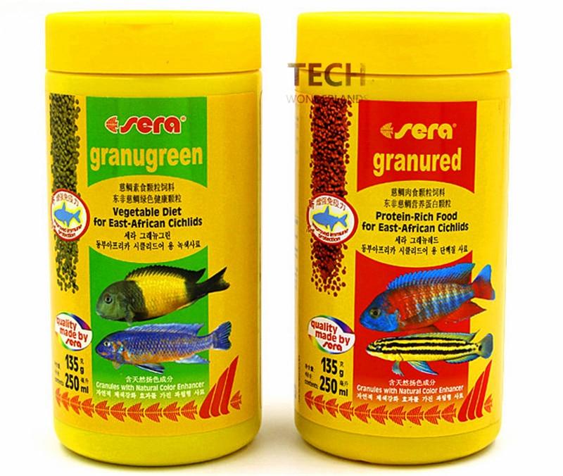 135G 600G Sera Granugreen Vegetable Diet And Sera Granured Protein-rich Food For East-African Cichlids Germany Original