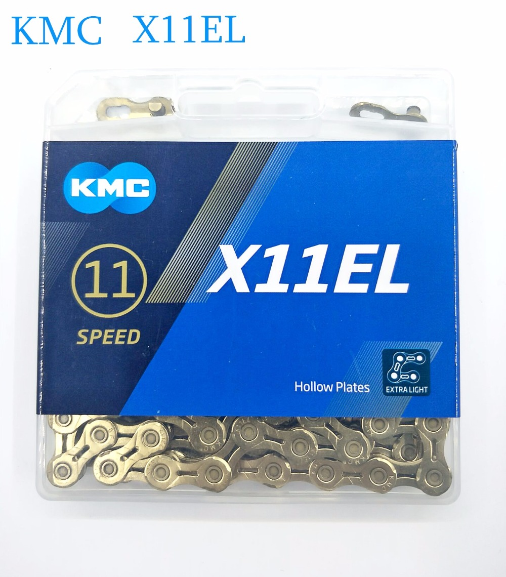 2019 New KMC X11EL 118L gold Bicycle Chain MTB bike chain 11 Speed with the Magic