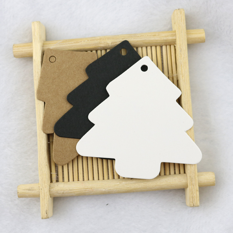 10pcs DIY Kraft Paper Wedding Note Tags Lace Scallop Head Label Luggage DIY Blank price Gift Hang tag Gift Tag