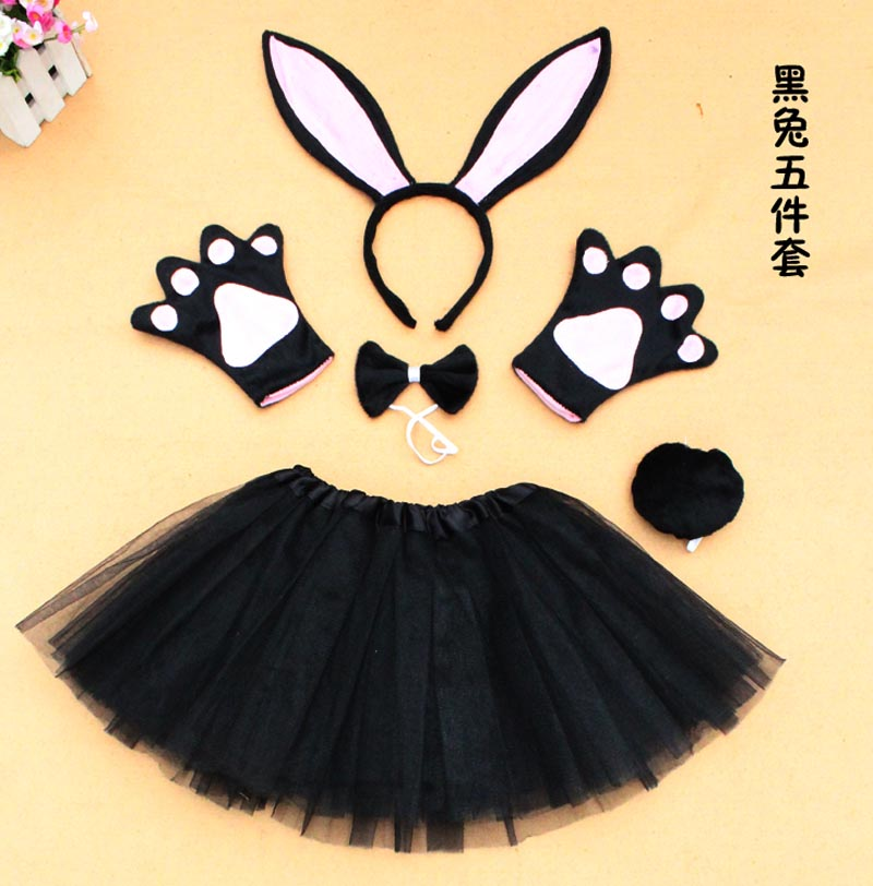 Halloween Bunny Rabbit Devil Minnie Mouse Cow Ears Tail and Bow Tie Fancy Dress