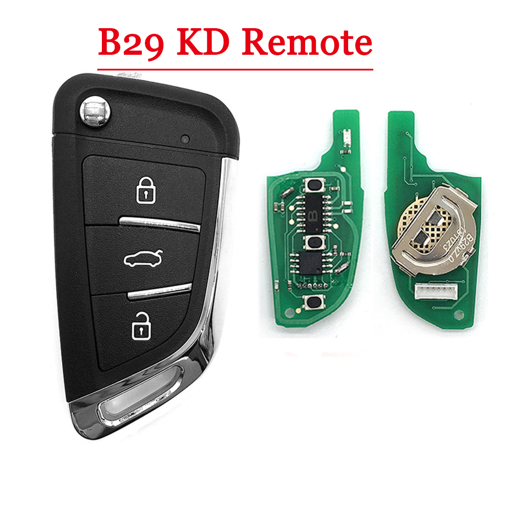 Free Shipping ( 1piece ) NEW Model  KD900 KD900+ URG200 KD-X2 Key Generator B Series Remote  B29 3 Button Universal KD Remote