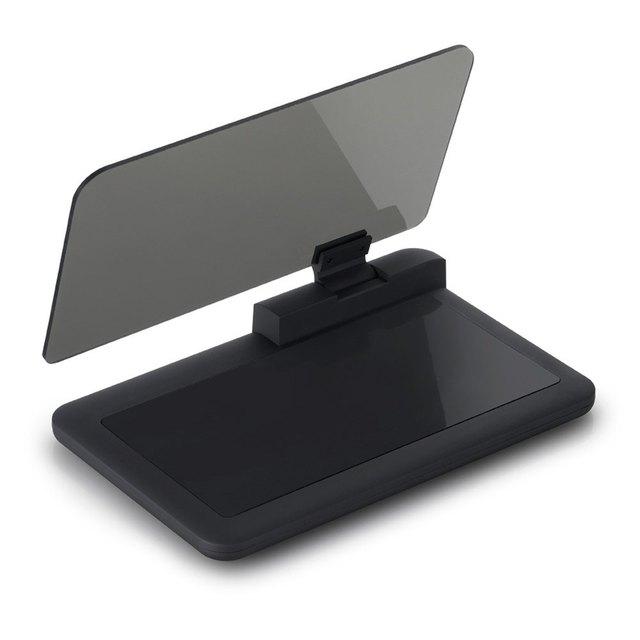 H6 Universal Head Up Display Car GPS Navigator Smartphone HUD Holder Non-slip Mat with Transparent Reflection Film Black