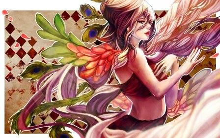 Книги по искусству Кирин без Hinote девушка перья женские вектор ангелы гостиная дома стены Книги по искусству Декор деревянной раме ткань пла...