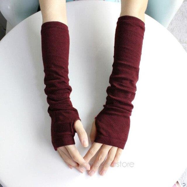 Nieuwe Mode Unisex Herfstwinter Hand Arm Handschoenen Haak Knit