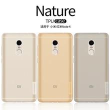 Для Xiaomi Редми Примечание 4 Случая Nillkin 0.6 мм Ультра-тонкий Прозрачный Мягкий ТПУ Случае Покрытия Для Xiaomi Редми примечание 4 (5.5 «дюймов)