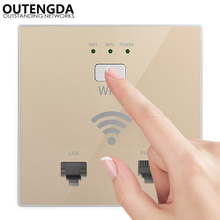 300Mbps in Wall AP WiFi Access Point Wireless Socket for Wi-Fi Network Project Support AC Management & RJ45 RJ11 WPS Encryption