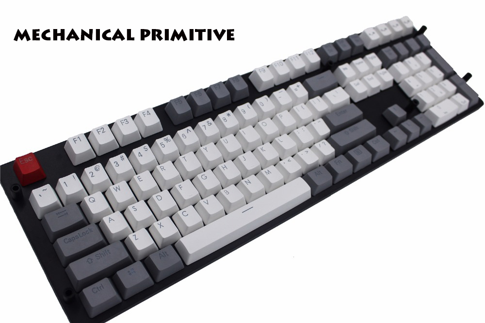 Keyboards Computer & Office Black White Abs Russian Language Keycaps For Cherry Mx Switches Mechanical Keyboard Caps 108 Key Cap