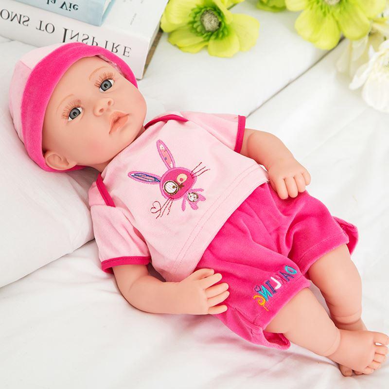 Vinyle nouveau-né bébé poupées jouets 40 CM peut chanter faire bébé son intelligent parler poupée jouets meilleurs enfants bebe cadeau reborn boneca