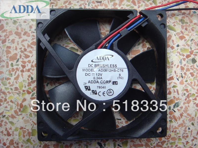ADDA 8020 12 V 24A AD0812HS-C76 trois-fil grasse ventilateur silencieux a39a8871545