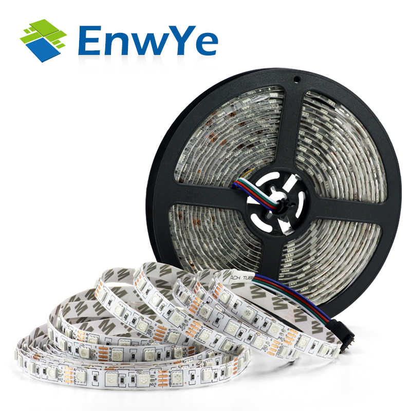 Enwye 5M 300 LED Tahan Air RGB LED Strip Light 3528 5050 DC12V 60 LED/M Fiexble Lampu LED ribbon Tape Dekorasi Rumah Lampu