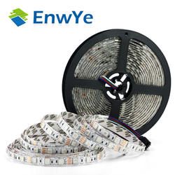 Enwye 5 м 300 светодио дный s водонепроницаемый RGB светодио дный полосы света 3528 5050 DC12V 60 светодио дный s/M гибкий светильник светодио дный лента