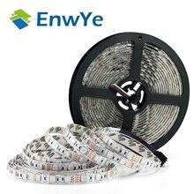 Enwye 5 メートル 300leds防水rgb ledストリップライト 3528 5050 DC12V 60leds/メートルfiexbleライトledリボンテープ家の装飾ランプ