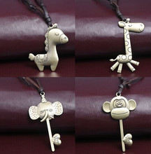 Vintage Cartoon Animal Charms Necklace