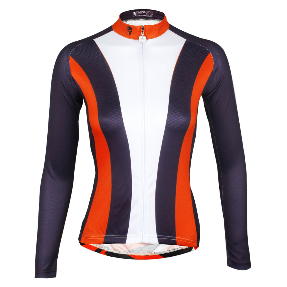 Women Long Sleeve Ciclismo Bike Jerseys Cycling Polyester Riding Clothing Crewneck Pro Cycling Jerseys Ciclismo Ropa Size XS-6XL