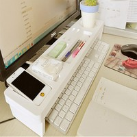 Desk Storage Shelf Office Desktop Organizer Phone Keyboard Storage Pen Shelf Deskstop Organizer a shelves