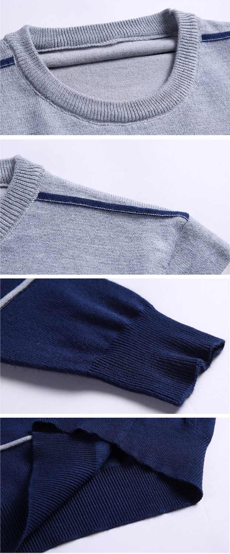 Casual Men winter O-Neck Striped pullover Sweaters 4