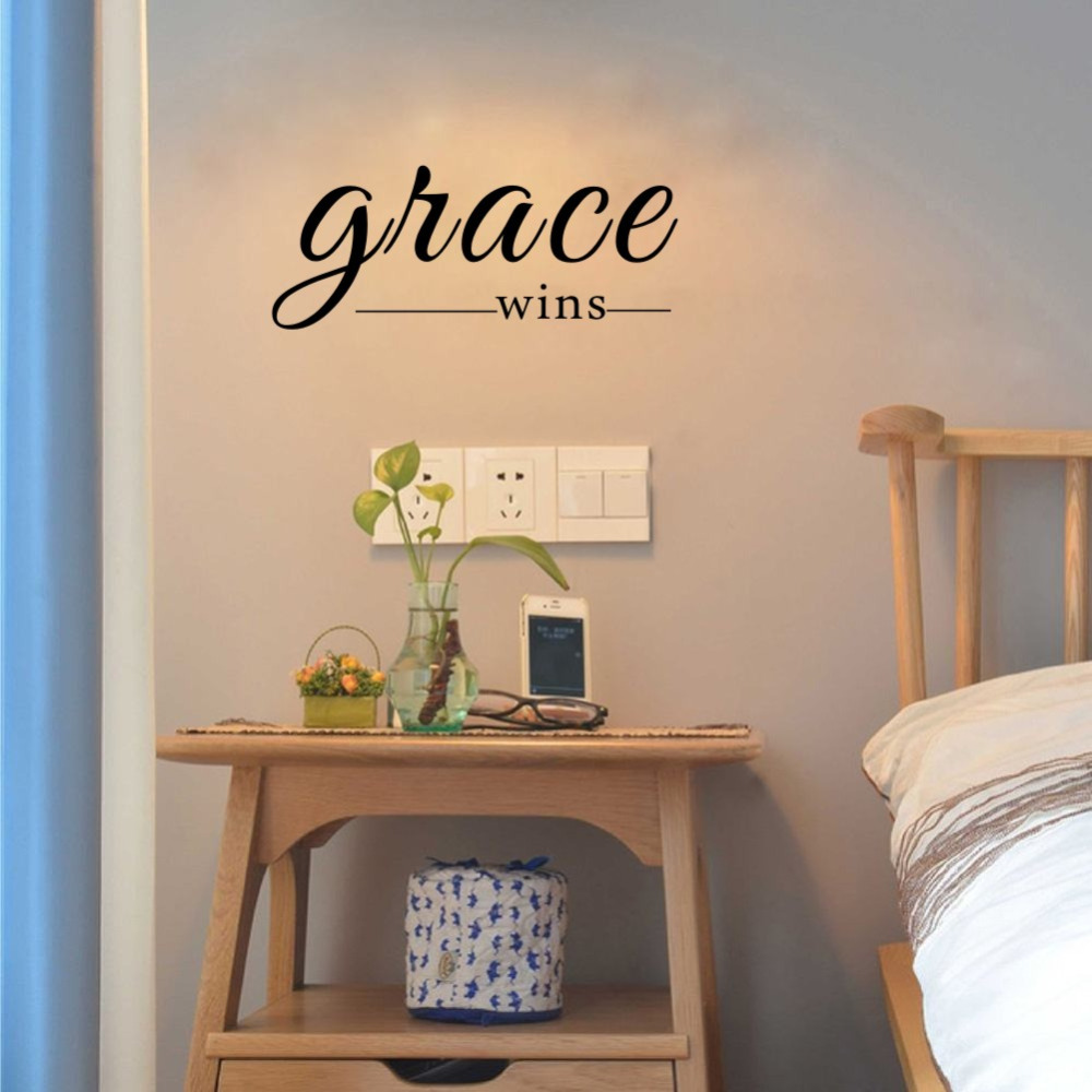 Grace Wins Inspirational Wall Decal Christian Wall Words
