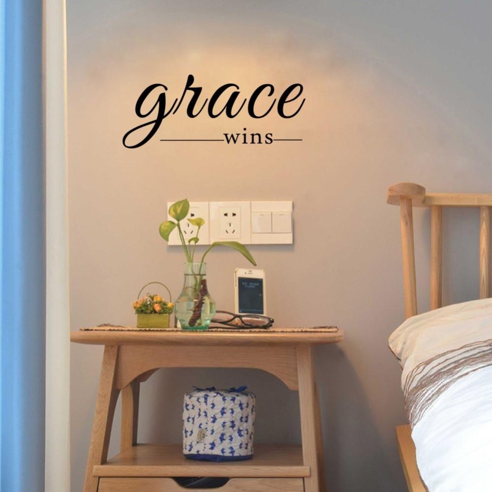 Grace Wins Inspirational Wall Decal Christian Wall Words