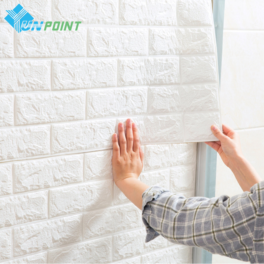 3D Wall Stickers Wall Brick Pattern Self Adhesive Wallpaper For Bedroom Living Room DIY Home Decor Waterproof Anti-collision high quality diy romantic flowers pattern wall stickers for home decor