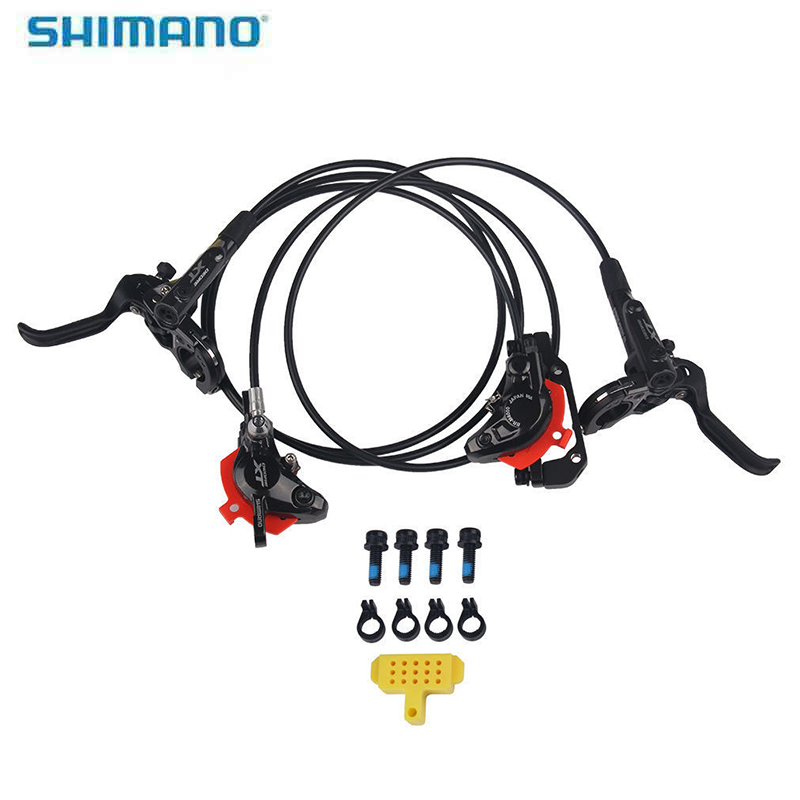 SHIMANO DEORE XT M8000 MTB Mountain Bicycle Hydraulic Disc Brake Set Deore Front Brake Lever + Rear Hydraulic Disc Brake Black shimano slx bl m7000 m675 hydraulic disc brake lever left right brake caliper mtb bicycle parts