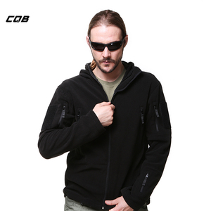 CQB Winter Outdoor Sports CampingTactical Military Men's Fleece Jacket Thickening Thermal Clothes Windproof Coat for Hiking