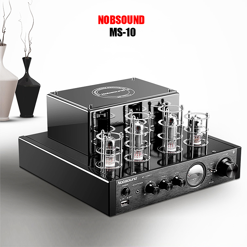 Nobsound MS-10D MKII USB Hifi 6P1 6N1 tube amplifier Bluetooth 3.0 amplifier Audio headphone amp USB lossless music Play 25W*2 nobsound ms 10d mkii hifi 2 0 tube amplifier usb bluetooth amplifier audio amplifier 25w 2 top