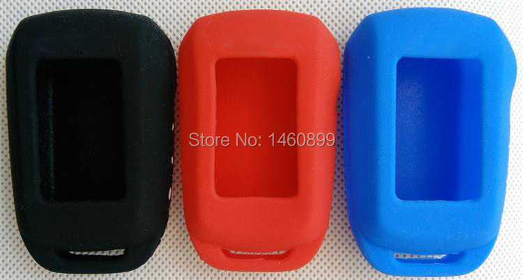 A92 Silicone Key Case with LOGO, for Russian Two Way Car Alarm LCD Remote Control Keychain Starline A92/A94/V62/A62/A64 Key Fob